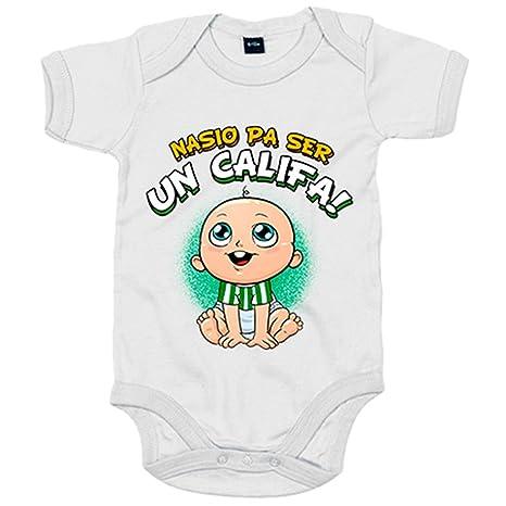 Body bebé nacido para ser Califa Córdoba fútbol - Blanco, 6-12 meses ...