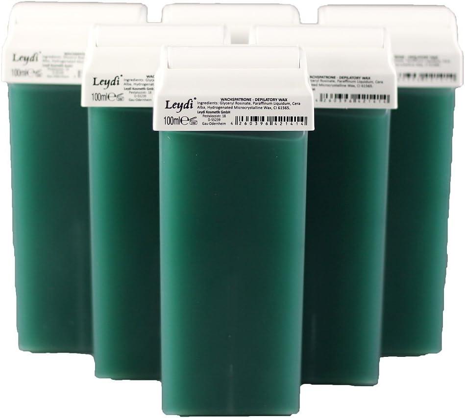 Leydi Warmwachspatronen Azulen 6 Stück je 100ml - Nachfüllset Wachspatrone: Amazon.de: Drogerie & Körperpflege - Warmwachs