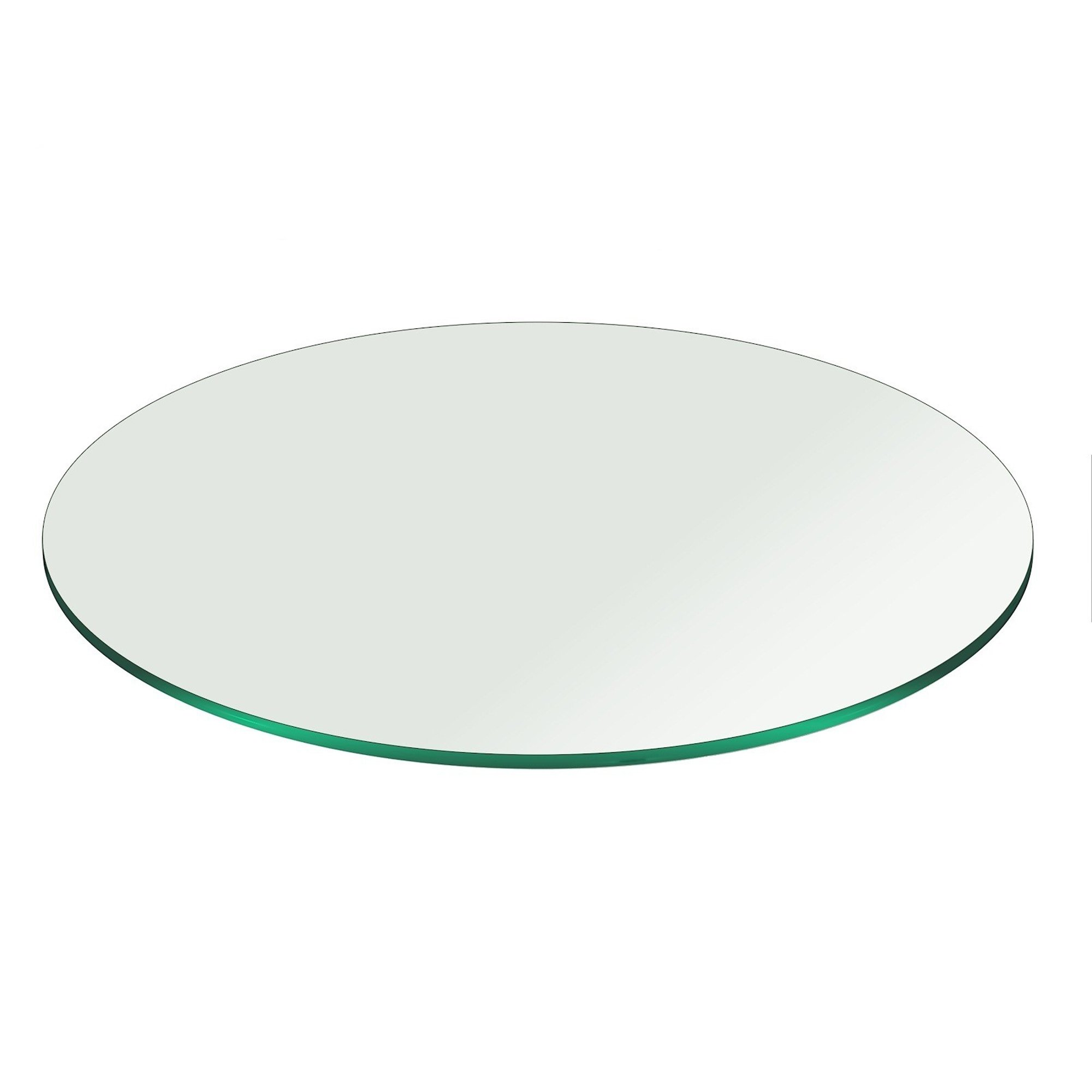 38'' Inch Round Glass Table Top 3/8'' Thick Pencil Polish Edge Tempered by Fab Glass and Mirror by Fab Glass and Mirror