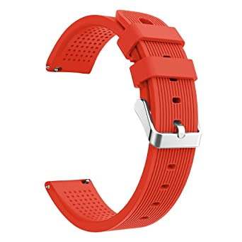 Replacement Band for Huami Amazfit Bip Watch Soft Silicon Accessory Watch Band Sport Wirstband for Huami Amazfit Bip Watch (Orange)