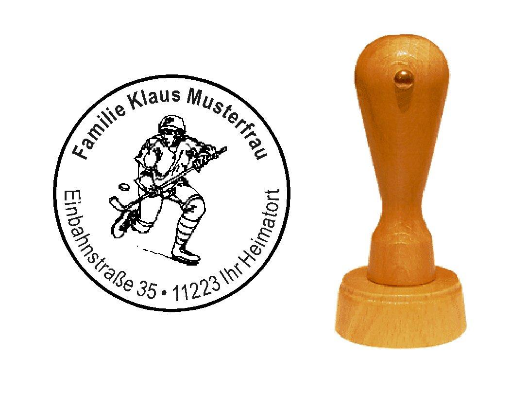 /Ø 40 mm Stempel Holzstempel Adressstempel /« BIENE mit BIENENWABE /» Durchmesser ca mit pers/önlicher Adresse und Motiv