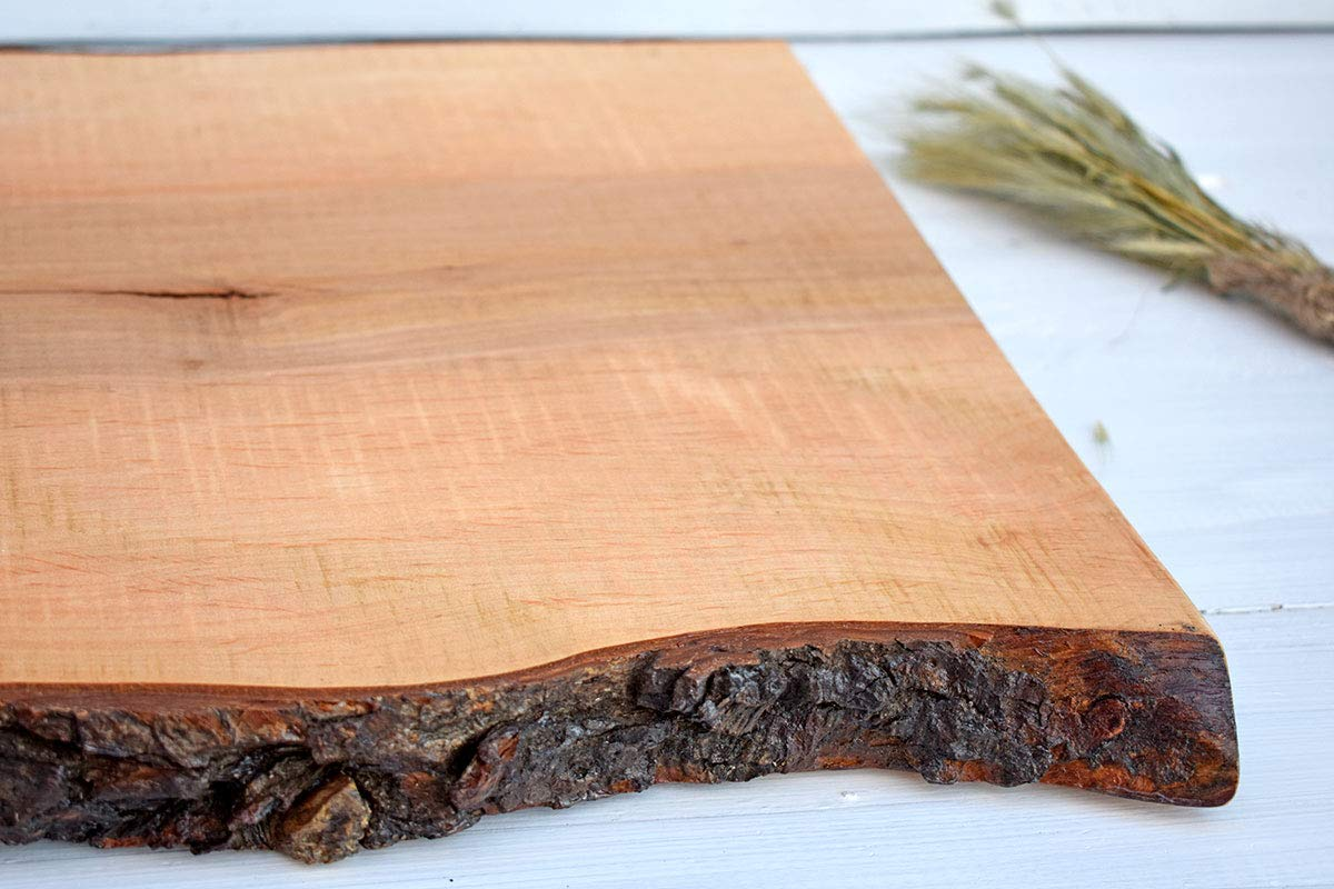 Amazoncom 158 Long And Wide Wooden Cutting Board With Bark