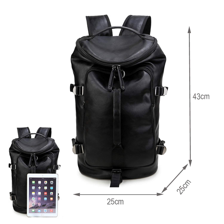 FHPJK Gym Bag Leather Sport Backpack for Men Fitness Training Travel Camping Waterproof Shoulder Sports Duffel Bag