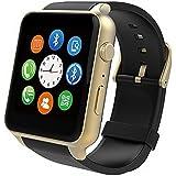 Montre Connectées STOGA nouveau Support SIM carte puce Bluetooth montre GSM téléphone montre-bracelet baignez indépendant Smartphone pour Android et IOS - Or