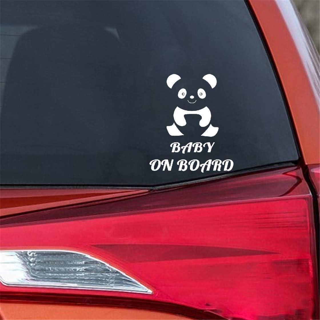 Auto Aufkleber Heckscheibenaufkleber Baby 13,5X15,8 Cm Baby Panda Niedlichen Cartoon Aufkleber Baby An Bord Warnung Auto Aufkleber Dekoration f/ür auto laptop fenster aufkleber