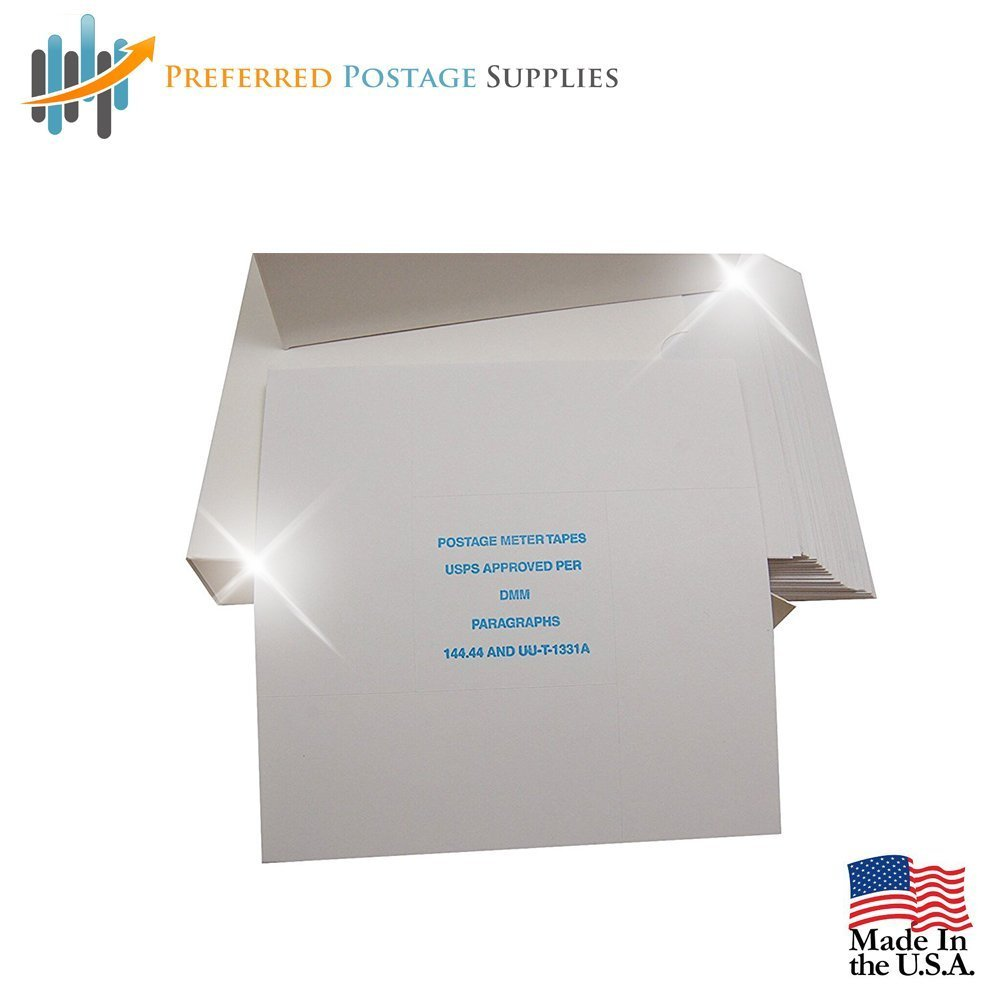 Pinwheel Postage Meter Tapes~Made in USA~ (USPS APPROVED) Compatible with Pitney Bowes, Hasler, Neopost and Francotyp Postalia. 600 Tapes in a Easy Feed Box