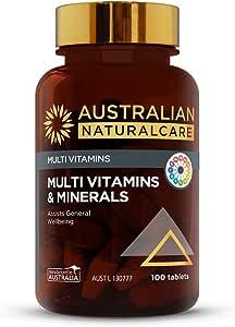 Australian NaturalCare - Multi Vitamins - Multi Vitamins and Minerals Tablets (100 Count)