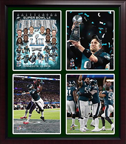 (Superbowl Champions Eagles LII World Champions 20x24 with 4 Images Framed)
