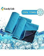 Lively Life Kühlung Handtuch 100cm x 30cm sofort kalte Sport Handtücher Fitness