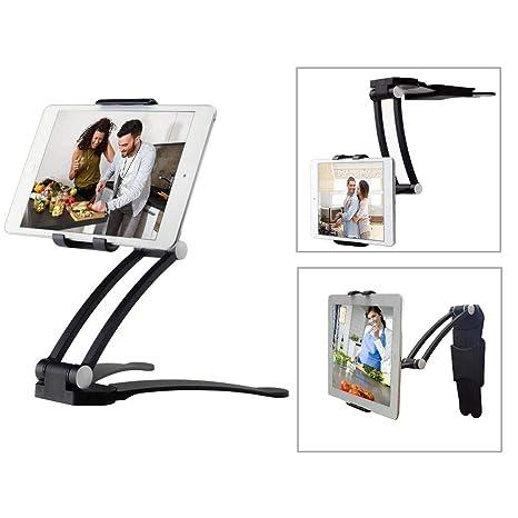 Moutik Kitchen Tablet Holder Tablet Bracket Adjustable Arm Phone Fits 4 10 5 Tablets Phone Kitchen Cabinet Desktop Mount Stand
