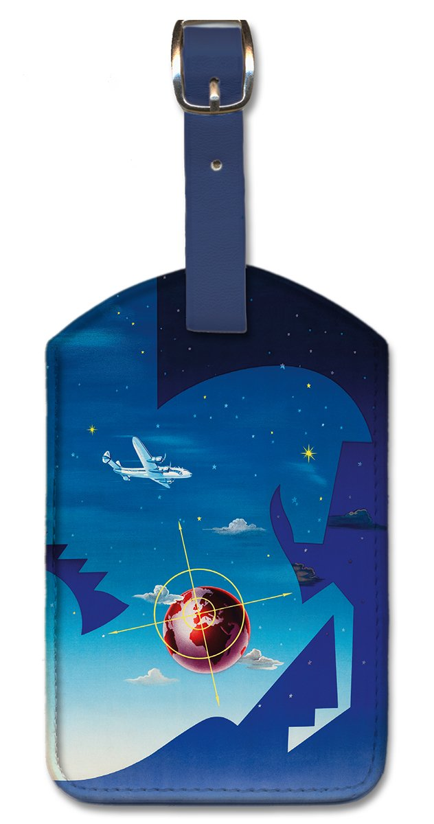 Pacifica Island Art Leatherette Luggage Baggage Tag Globetrotter by Vilat/ó