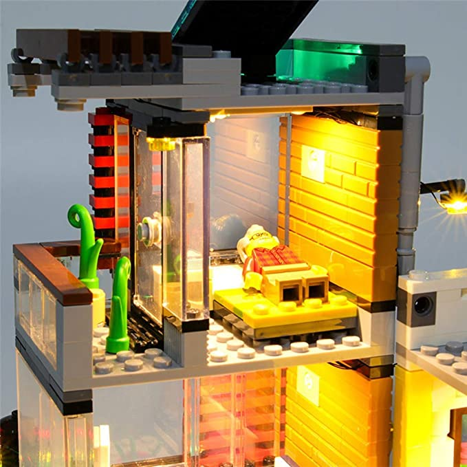 YLJJ Juego de Luces LED USB DIY Compatible con Lego Creator Townhouse Pet Shop and Cafe 31097, Kit de Luces LED para Bloques de construcción Modelo niños (No Incluido el Modelo): Amazon.es: