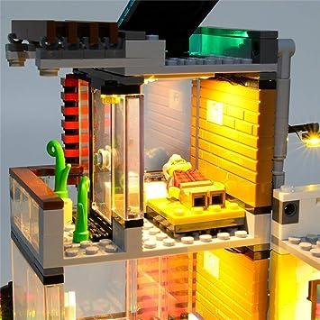 YLJJ Juego de Luces LED USB DIY Compatible con Lego Creator Townhouse Pet Shop and Cafe 31097, Kit de Luces LED para Bloques de construcción Modelo niños (No Incluido el Modelo): Amazon.es: