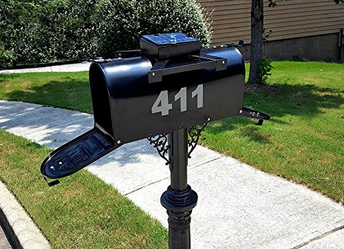 Solar Powered Lighted Dual door Mailbox (Not Pole Base included)