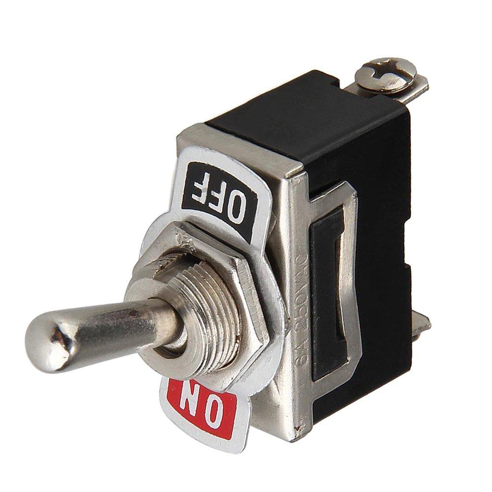 12V Interrupteur /à Bascule Batterie Flick On//Off Voiture Auto Dash SPST M/étal