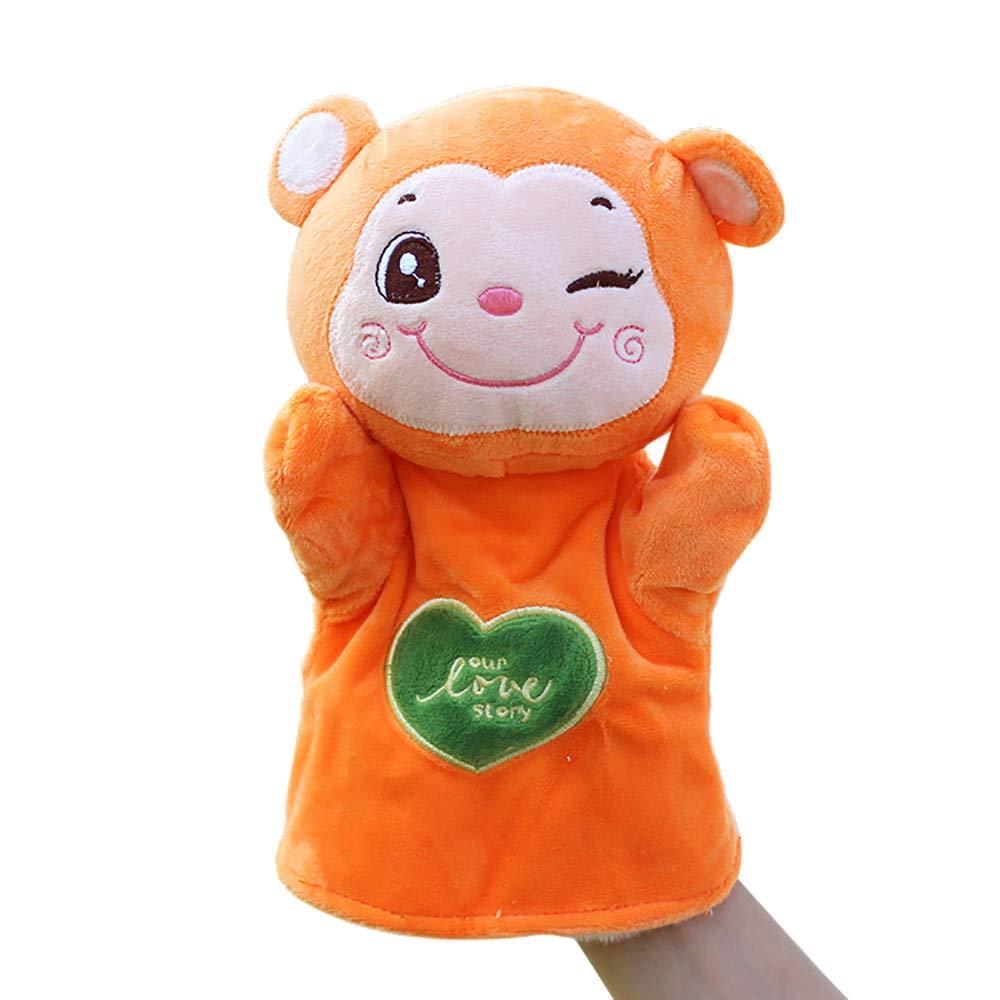 callm Hand Puppet,Finger Puppets,Kids Glove Hand Puppet Soft Plush Finger Toys Cute Cartoon Animal Doll Toys Cat//Dog//Duck//Bear