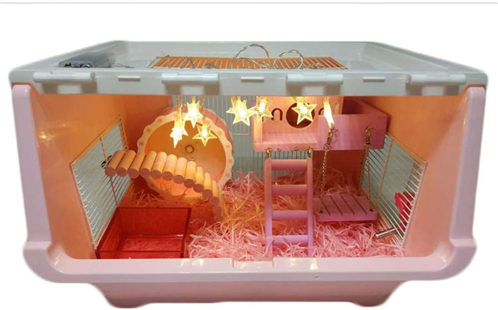DRKJ Jaula De Hamster Acabado De Acrílico DIY Caja Jaula Jaula De Hámster: Amazon.es: Productos para mascotas