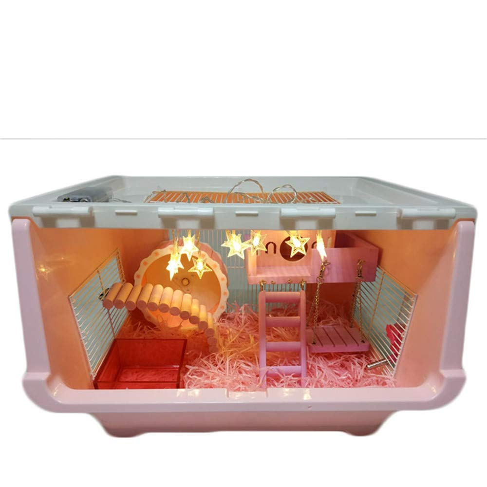 1 DRKJ Hamster Cage DIY Acrylic Finishing Box Cage Hamster Cage
