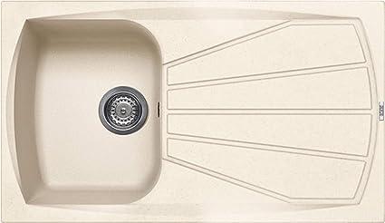 Lavello Cucina 1 Vasca Con Gocciolatoio Da 86 Cm Granitek Avena Lgl40051nna Serie Living 400 Amazon It Fai Da Te
