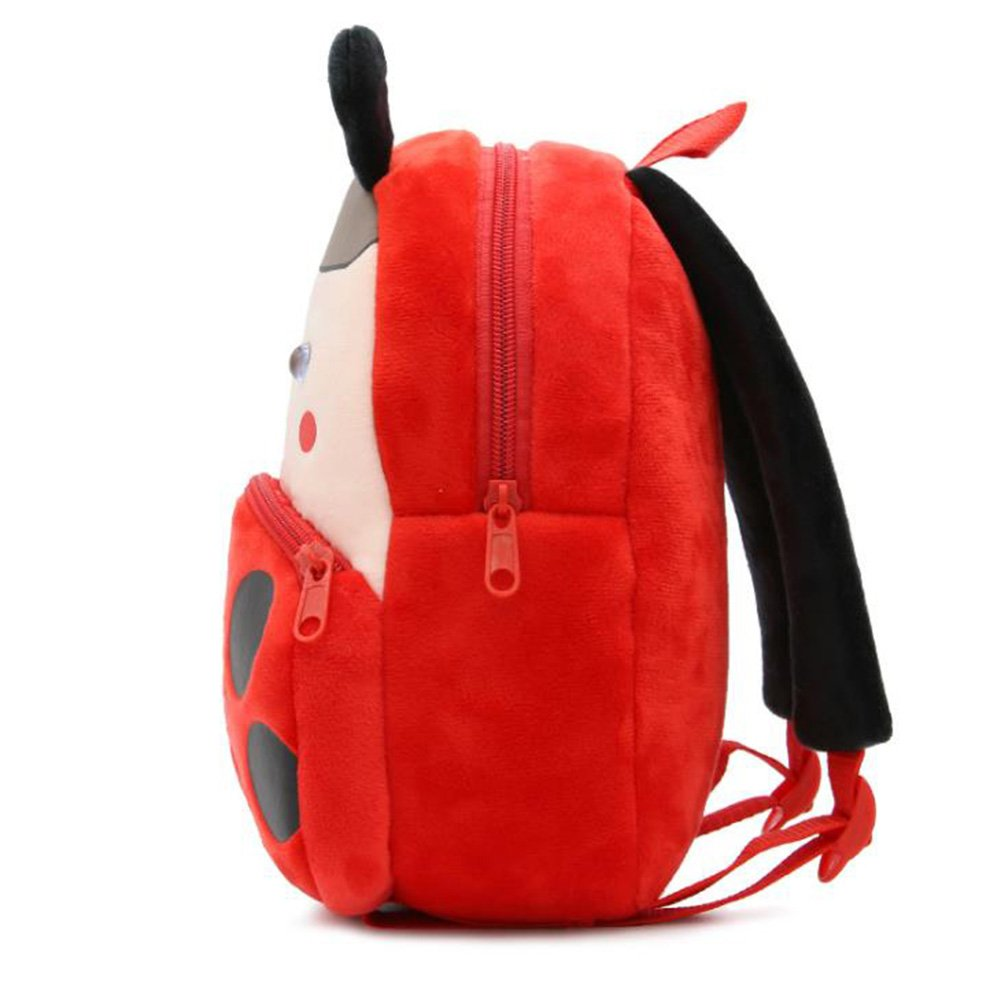 Cute Toddler Backpack Toddler Bag Plush Animal Cartoon Mini Travel Bag for Baby Girl Boy 1-6 Years (Beetle) by NICE CHOICE (Image #2)