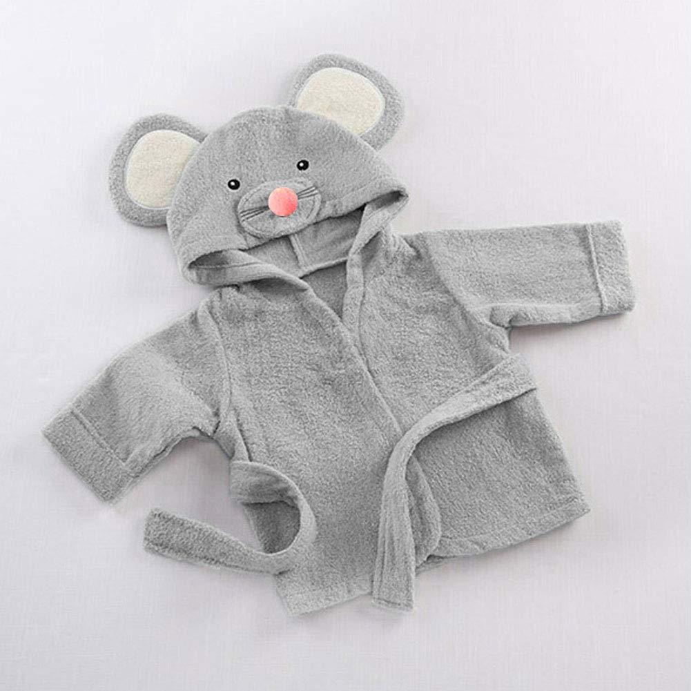 Baby Pajamas dise/ño de dibujos animados small gris toalla de ba/ño con capucha para beb/é de alta calidad suave y c/ómoda