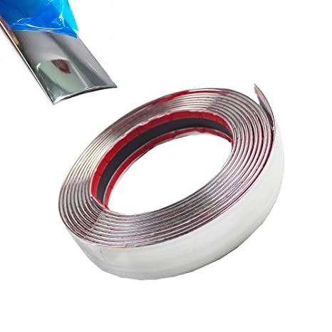 Chrome Car Exterior Edge Guard Moulding Strip Self Adhesive Trim for Body Line /& Trunk Edge 40mm Width Silver 16ft