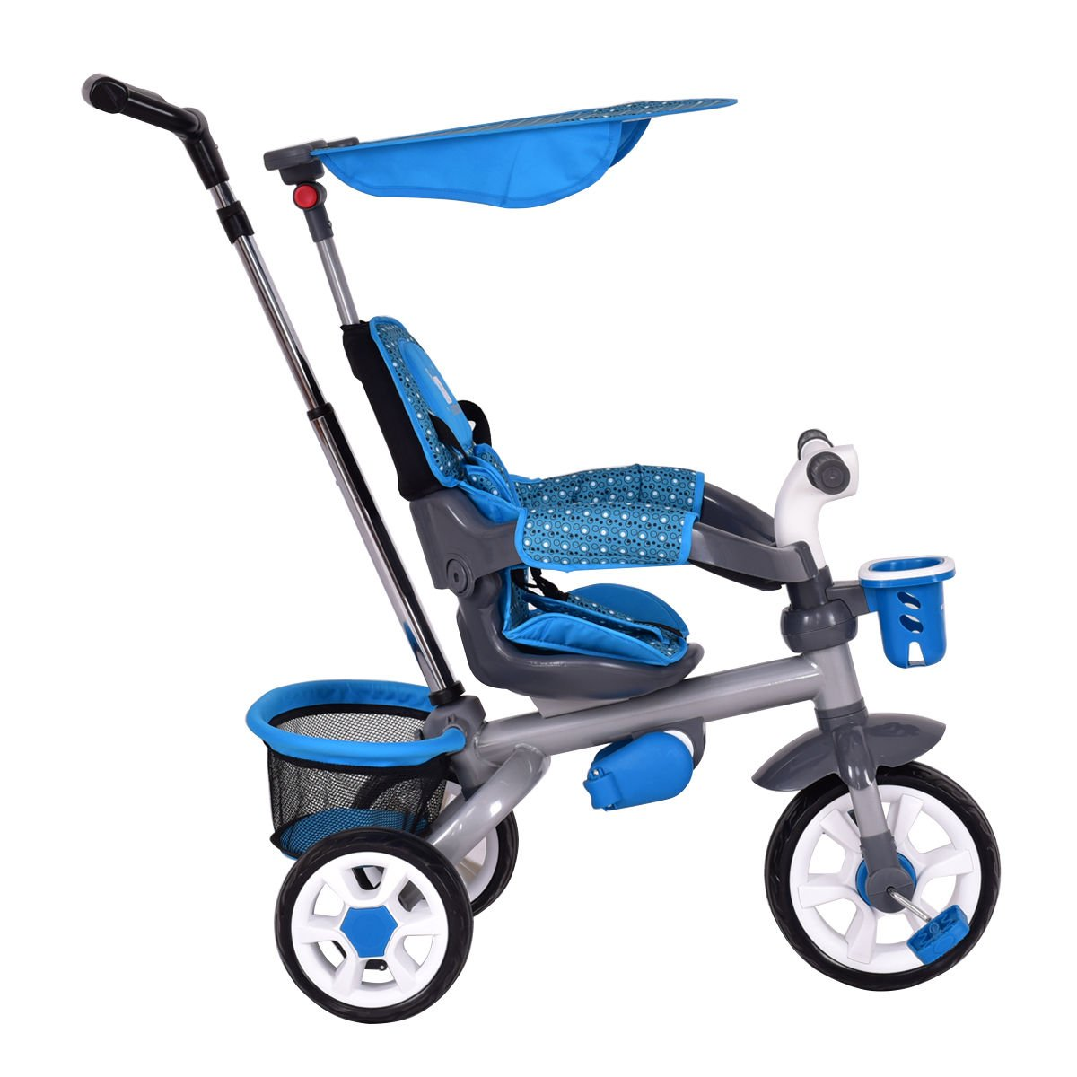 4-In-1 Kids Baby Stroller Tricycle Detachable Learning Toy Bike Canopy Basket by Eight24hours (Image #6)