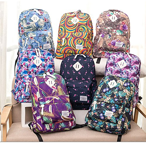 Flamingo Colors School Canvas Adolescent Cartoon Print For Female Backpacks Backpack Backpack 73a Travel Backpack Women 6 pd5wXqtX
