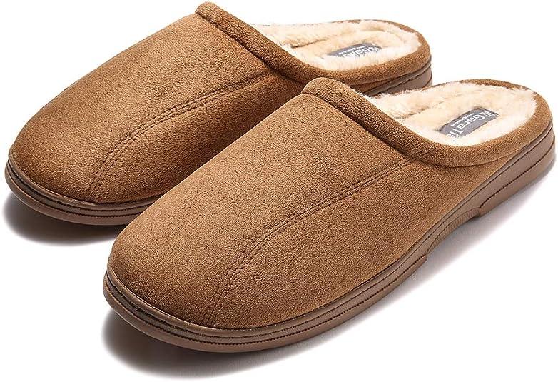 GAOHUI Slippers Los Hombres De Invierno Antideslizante T/érmico Terciopelo Artificial Zapatillas Amantes De La Moda Zapatos Hechos A Mano