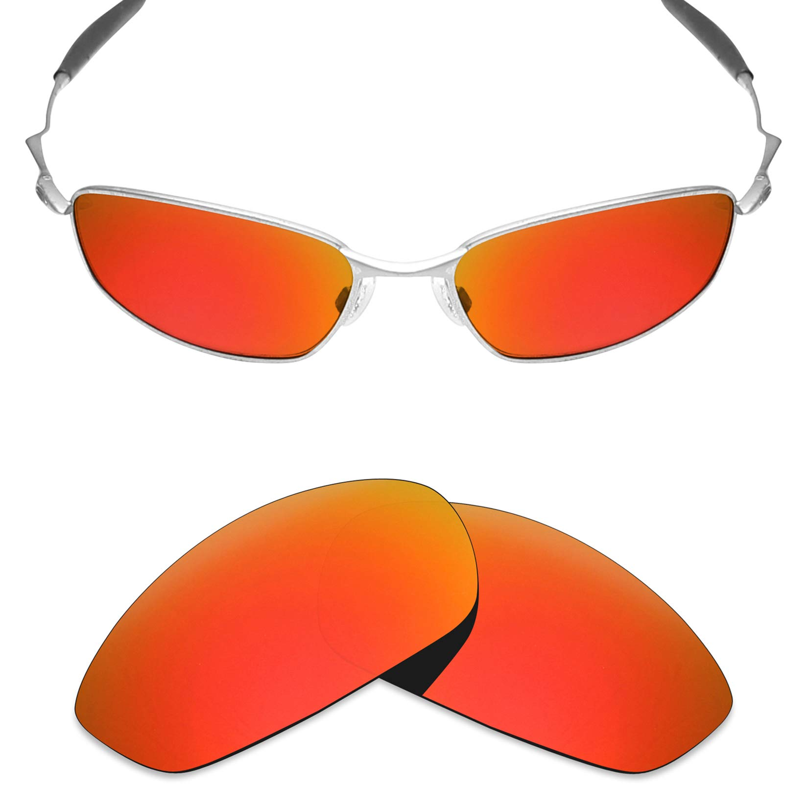 4279226f75c Mryok Polarized Replacement Lenses for Oakley Whisker - Fire Red