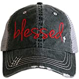 Katydid Deals Blessed Women's Trucker Hat-Red/White