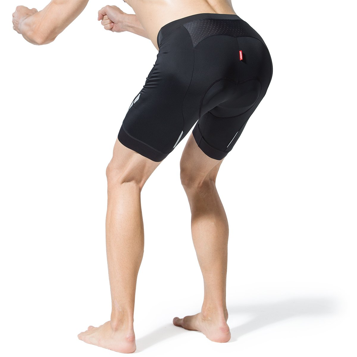 Souke Mens 4D High Density Sponge Padded Cycling Shorts Biking Bicycle Bike Pants