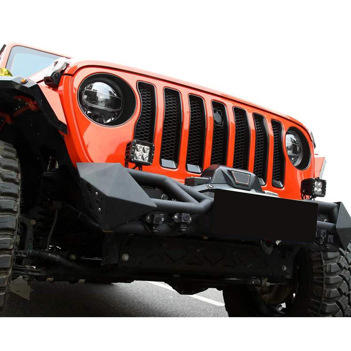 Matte Black American 4wheel Jeep Wrangler Clip-in Bezels Headlight Cover Headlight Trim for Jeep Wrangler Accessories JK JKU /& Unlimited Rubicon Sahara Sports,2007-2018 ABS