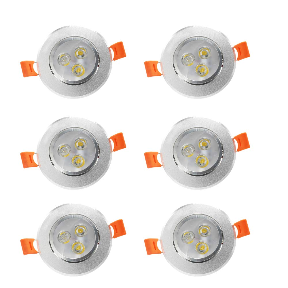 BA-BOLING 3W 3''LED Downlight - 4000K Neutral White Light - 60 Beam Angle,LED Recessed Lights with Led Driver, 2 Years Warranty - 6 Pack
