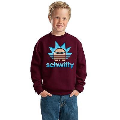 Wild Bobby Schwifty Stripes Logo | Boys Pop Culture Crewneck Graphic Sweatshirt