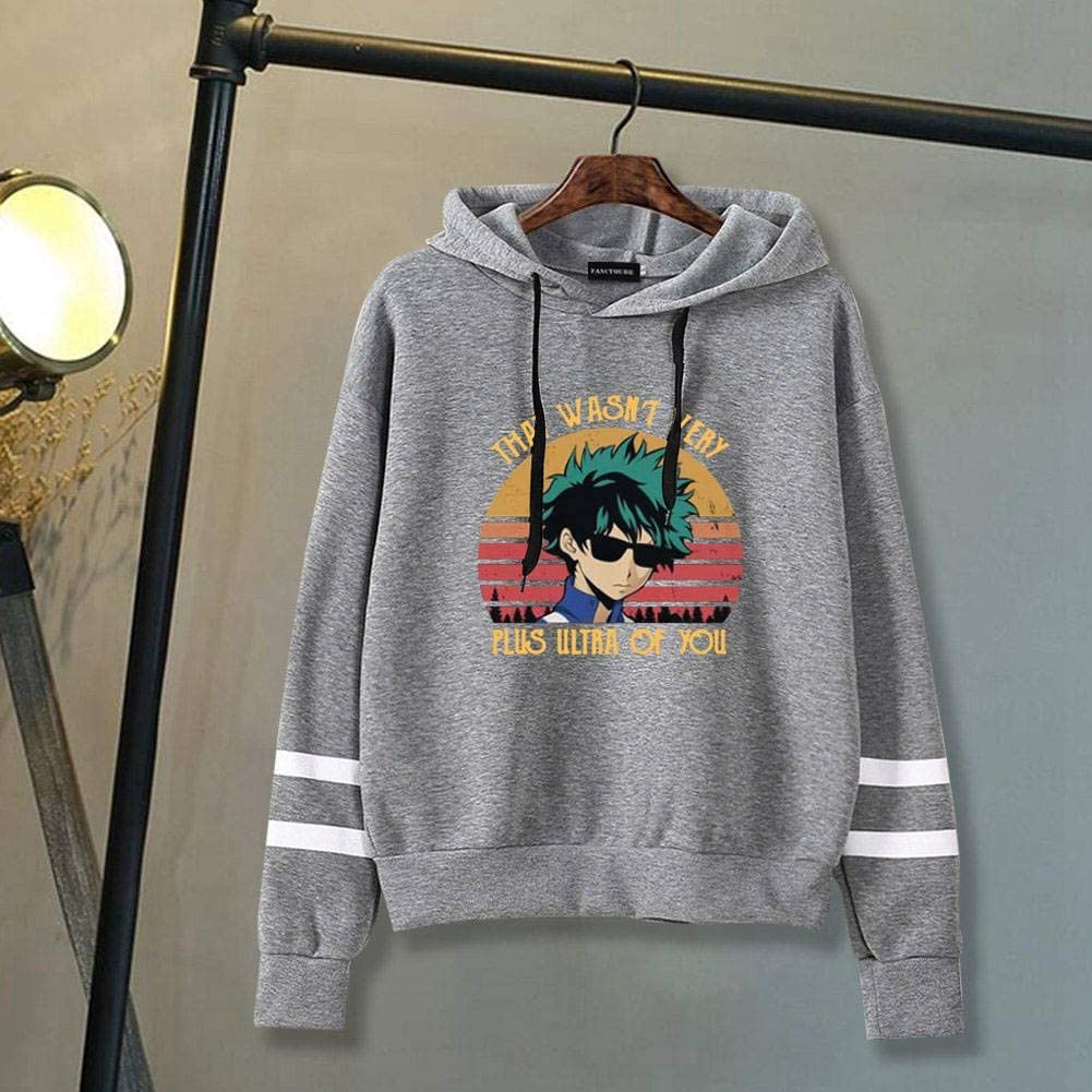 Anime Long Sleeve Tops for Men and Women Unisex Pullover Dacitiery My Hero Academia Hoodies