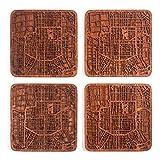 Xi'an Map Coaster by O3 Design Studio, Set of