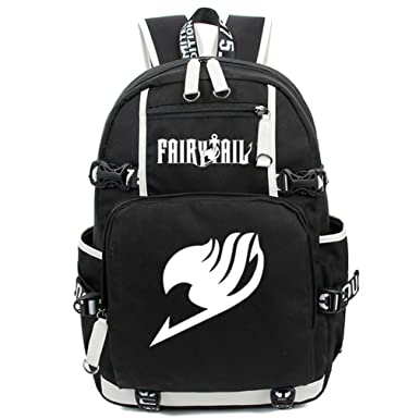 8feac5f72e Image Unavailable. Image not available for. Color  Gumstyle Fairy Tail  Luminous Backpack Anime Book Bag Casual School Bag