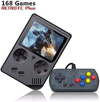 Amazon.es: INMNS Consola de Juegos de Mano, 850 mA FC System Plus Extra Joystick portátil Mini Mando 3 Pulgadas Soporte TV 2 Player 168 Consola de Juegos clásica, Presend para niños y