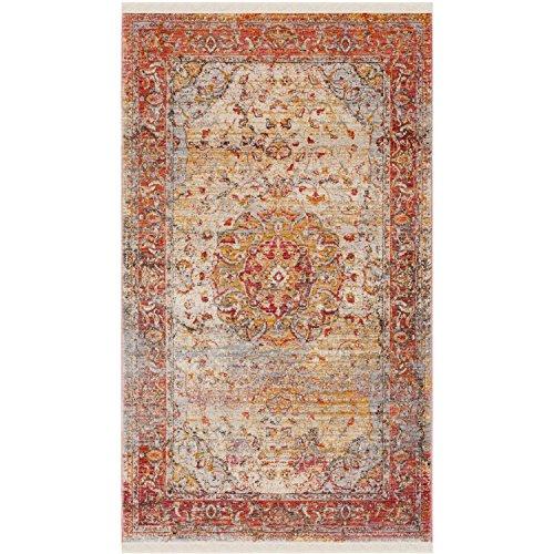 Dimensions Runner Rug - Vintage Persian Trina Power-Loomed Area Rug or Runner, Saffron/Cream + Expert Guide