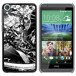 EJOY---Cubierta de la caja de protección la piel dura para el / HTC Desire 820 / --Ciber Guerrero