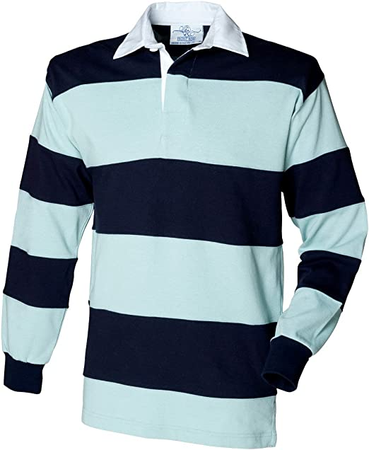 Front Row -camisa Unisex adulto Multicolor Duck Egg Blue and Navy xx-large: Amazon.es: Ropa y accesorios