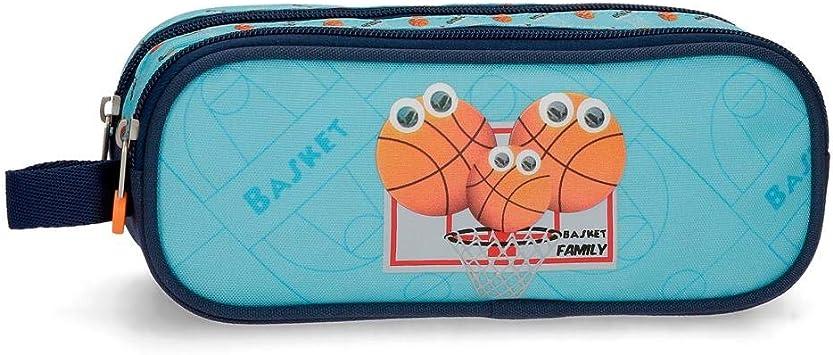Estuche Enso Basket Family Dos Compartimentos, Azul, 23x9x7 cm: Amazon.es: Equipaje