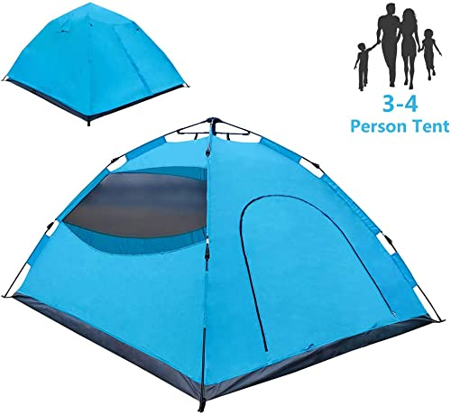 LETHMIK Pop Up Tent, Tents for Camping 2 3 4 Person – 30 Seconds Easy Up Camping Tent, Waterproof Instant Backpacking Tent for Outdoor Hiking, Climbing, Travel – Includes Carry Bag