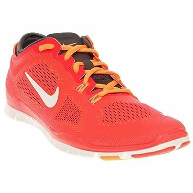 e4ab549ef4574 Nike Women s Free 5.0 Tr Fit 4 LSR Crimson White Dark Gray Running Sneakers