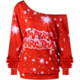 OverDose Damen Spukhaus Stil Frauen Halloween Kürbis Teufel Sweatshirt Pullover Tops Bluse Shirt Jumper Party Clubbing Home Suit
