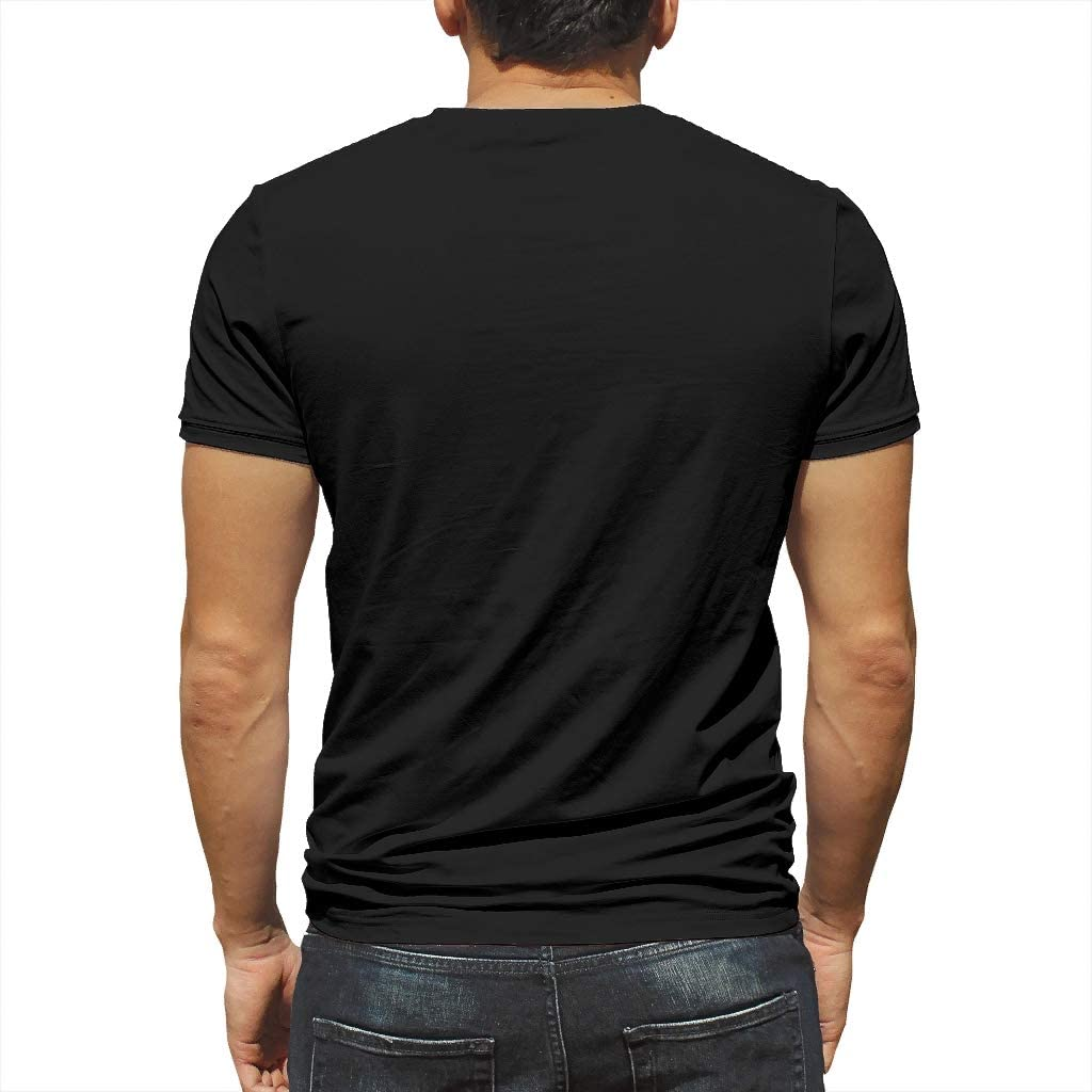 Daily Short-Sleeve Crew Neck Chic T Shirts Men T Shirt Personalized Sayings Print Hello Guys