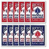 Box of Bicycle Jumbo Index Pinochle Playing Cards (1 Dozen Decks) - Includes 6 Bonus Cut Cards!