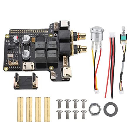 Bewinner X5000 4ports Expansion Board Adapter 2V RMS HiFi Sound Card 60W 192KHz//24Bit Digital Amplifier DC Converter to Power for Raspberry Pi