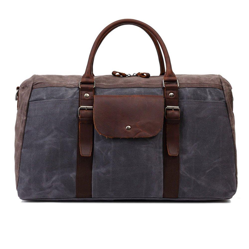 Waterproof Canvas Large-capacity Travel Bag Mens Handbag Casual Shoulder Messenger Bag Travel Duffels Color : Gray